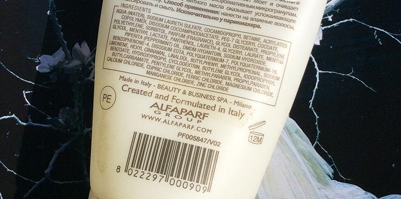 ALFAPARF Thermae Spa Fontis Purifying Peeling Shampoo Review ingredients