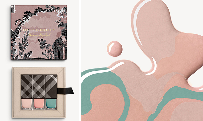 burberry-runway-nails-tea-rose-and-stone-green-pair-with-classic-nude-pink-ss17