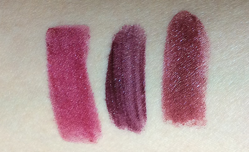 nyx-soft-matte-lip-cream-in-transylvania-tom-ford-bruised-plum-and-clarins-royal-plum
